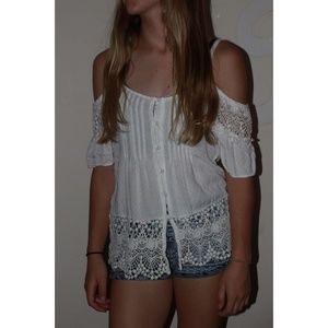 White Patterned Shirt